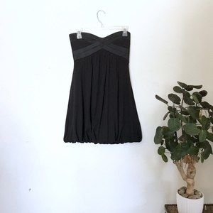 Bebe Black Strapless Mini Dress